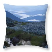 Mt. Washington Blue Hour Throw Pillow