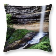 Munising Falls Throw Pillow