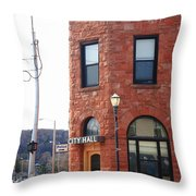 Munising Michigan - City Hall Throw Pillow