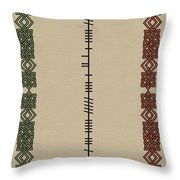 Murray Written In Ogham Throw Pillow