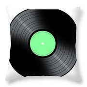 Music Record Throw Pillow