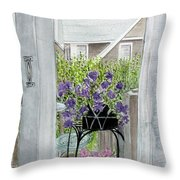 Nantucket Room View Throw Pillow