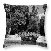 National Garden In Athens Throw Pillow
