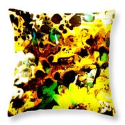 Natural Map Throw Pillow