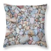 Natural Rock Pebble Backgorund Throw Pillow