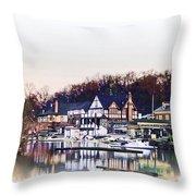 On Boathouse Row Throw Pillow