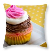 Neapolitan Cupcakes Throw Pillow