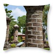 Nelson's Dockyard In Antigua Throw Pillow