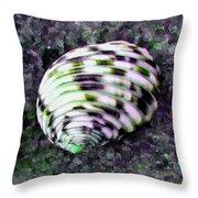 Nerita Versicolor Four-tooth Nerite Shell Throw Pillow