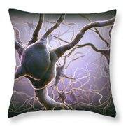 Neuron Throw Pillow