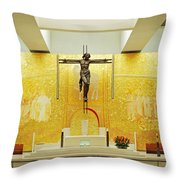 New And Modern Cathedral Of Fatima Throw Pillow