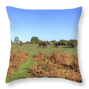New Forest Throw Pillow