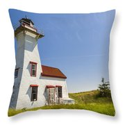 New London Range Rear Lighthouse Throw Pillow