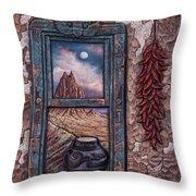 New Mexico Window Throw Pillow
