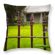 New Orleans Cottage Throw Pillow