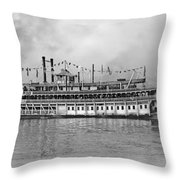 New Orleans Steamboat Throw Pillow
