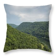 New River Scene 13 B Throw Pillow