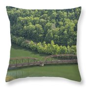 New River Scene 17 Throw Pillow