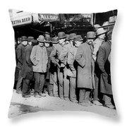 New York City Bread Line Throw Pillow