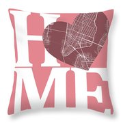 New York Map Home Heart - New York City New Yorkroad Map In A He Throw Pillow