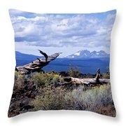 Newberry Lava Beds Throw Pillow