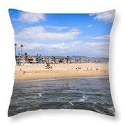 Newport Beach In Orange County California Throw Pillow