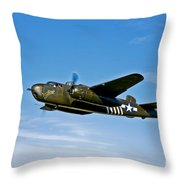North American B-25g Mitchell Bomber Throw Pillow
