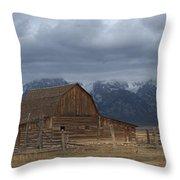 North Moulton Barn Grand Tetons Throw Pillow
