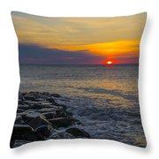 North Wildwood Sunrise Throw Pillow