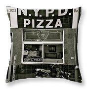 N.y.p.d. Pizza Throw Pillow