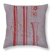 Oboe Patent 1931 Throw Pillow