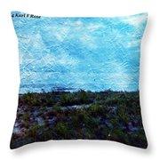 Ocean As A Painting Throw Pillow
