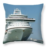Throw Pillow Liners : Ocean Liner Photograph by Evgeny Pisarev