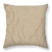 Ocean Sand Art Below Throw Pillow