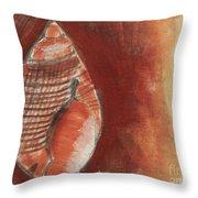 Ocean Shell Throw Pillow