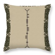 O'connell Written In Ogham Throw Pillow
