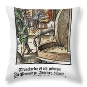 Oil Press, 1568 Throw Pillow