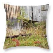 Old Barn In Fall Maine Throw Pillow by Keith Webber Jr