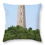 Old Cape Henry Lighthouse Throw Pillow