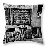 Old City Tavern Throw Pillow