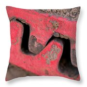 Old Cog Wheels Throw Pillow by Les Palenik