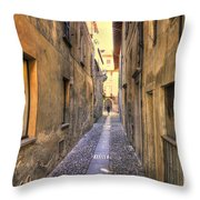 Old Colorful Stone Alley Throw Pillow