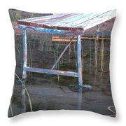 Old Dock 2 Throw Pillow