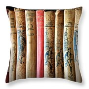 Old Friends Throw Pillow by Gwyn Newcombe