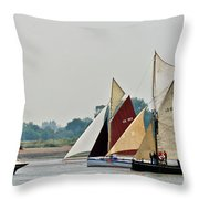 Old Gaffers Panorama Throw Pillow
