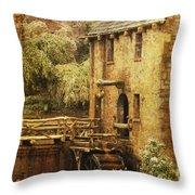 Old Mill In Arkansas Throw Pillow