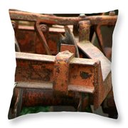 Old Mowing Machine Throw Pillow