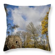 Old Sigulda Castle Ruins Throw Pillow