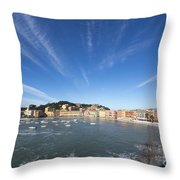 Old Village Sestri Levante Throw Pillow