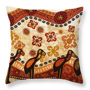 On The Lake Throw Pillow by Sergey Khreschatov